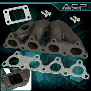 For 88 00 Civic T25 Dseries Sohc D15 D16 Iron Cast Turbo Exhaust Manifold Racing