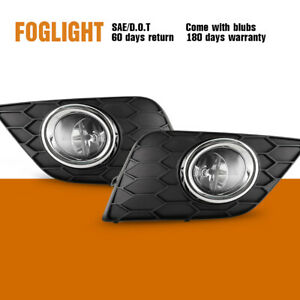 Fits 16 18 Nissan Sentra Fog Light Clear Front Lamps 1pair Wiring Kit