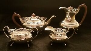 English Sterling Silver Tea Coffee Service