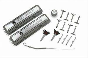 Proform Parts 141 002 Engine Dress up Kit Steel Chrome Chevy Small Block Kit