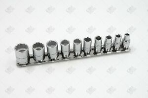 Sk Hand Tools 4946 10pc 1 4 Dr 12pt Standard Fractional Chrome Socket Set