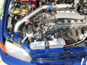 Intercooler Piping Kit For 88 00 Civic Integra D B Series Blue Hoses