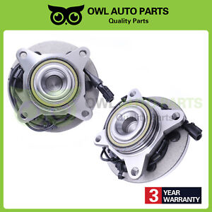 Pair Of 2 Front Wheel Hub Bearings For Ford Expedition Lincoln Navigator 515042