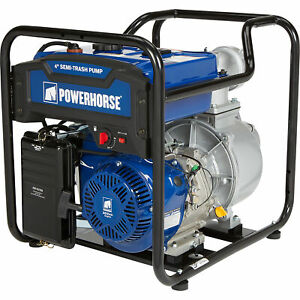 Powerhorse Extended Run Semi trash Water Pump 4in Ports 23 040 Gph 302cc