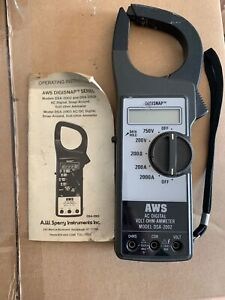 Aws Ac dc Digital Volt ohm ammeter Model Dsa 2002p Digisnap Clamp Meter Japan