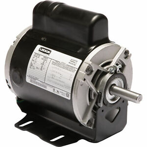 Leeson Instant Reversing Electric Motor 1 2 Hp 1 625 Rpm 115 Volts Single Phase