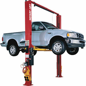Rotary Lift 2 Post Truck Lift W 3 Stage Arms 12k Lb Capacity 164inh Standard Red