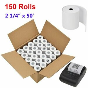 150 Roll 2 1 4 X 50 Thermal Paper Credit Card Receipt Cash Pos Register Tape