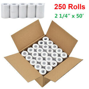 250 Rolls 2 1 4 X 50 Thermal Paper Credit Card Receipt Cash Pos Register Tape