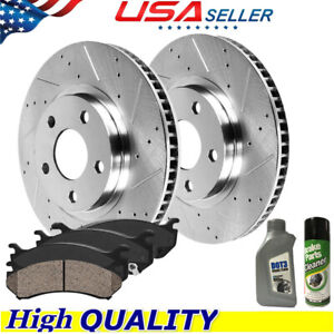 Front Drill Rotors Ceramic Pads For 2011 2012 2013 2019 Jeep Grand Cherokee