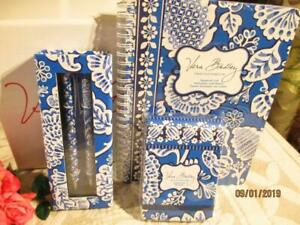 Vera Bradley blue Lagoon perfect Match Pen Pencil mini Notebook pocket Papers