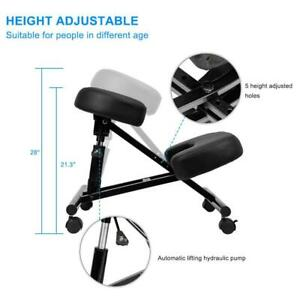 Ergonomic Kneeling Office Chair Mobile Posture Stool Knee Rest Hydraulic Pump