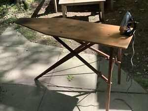Vintage Antique Wooden Folding Ironing Board