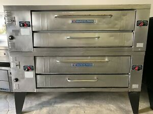 Bakers Pride Y602 Superdeck Series 8 Deck Height Double Gas Pizza Ovens