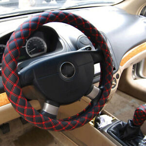 15 Universal Steering Wheel Cover Genuine Leather Breathable Anti Slip Protector