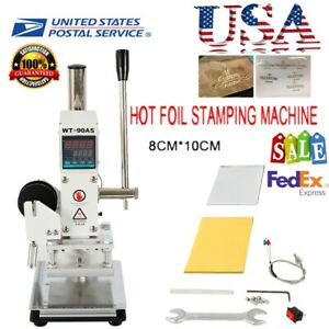 Manual Digital Hot Foil Stamping Machine For Leather Stamping Wood Craft 0 350