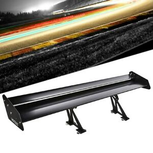 Megan Race 56 Adjustable Black Double Deck Aluminum Gt Rear Trunk Spoiler Wing