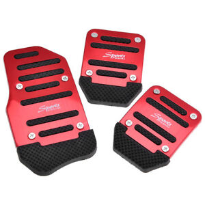 Non Slip Manual Transmission Car Pedal Cover For Brake Clutch Accelerator Red