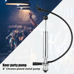 8 Inch Heavy Duty Draft Beer Pump Keg Tap Party Stainless Steel Chrome Pump Usa