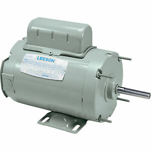 Leeson Farm duty Electric Motor 1 2 Hp 1625 Rpm 115 230 Volts Single Phase