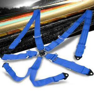Nrg Sbh 6pcbl 6 point Cam Lock Blue Racing Seat Belt Harness Replacement