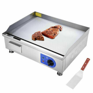 1500w Commercial Thermomate Electric Griddle Grill Bbq Plate Countertop 24