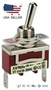 Heavy Duty Spst On off Toggle Switch 20a 125v 15a 250v Spade Terminals 11a