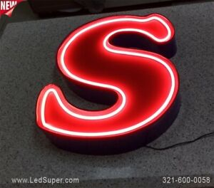 Neon Channel Letter 14 New Business Sign Custom Made