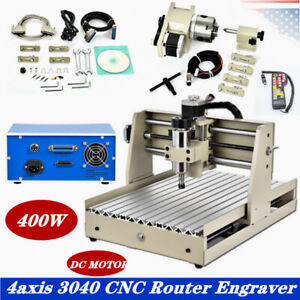 4 Axis Cnc 3040 Router Engraver Wood Pvc Plate Milling Drill Cutter controller