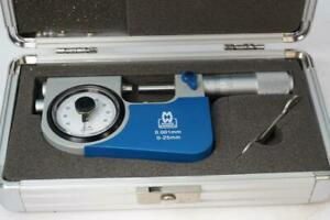 New Moore Wright 0 25mm Dial Indicating Snap Micrometer 001mm Grad