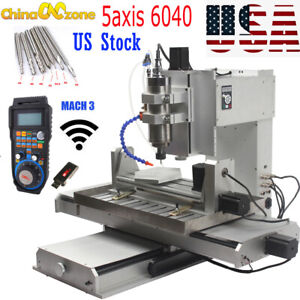 Hy 6040 5 Axis 2200w Cnc Aluninum Router Machine For Drilling Milling Engraver