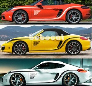 718 618 Boxster Side Door Sticker Decal For Porsche 718 618 Boxster Cayman