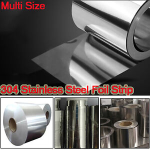 304 Stainless Steel Band Foil Sheet Plate Strip 1m Panel Thickness 0 05mm 0 2mm