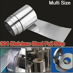 304 Stainless Steel Foil Sheet Metal Plate Thick 0 005mm 0 4mm Strip Panel 1 5m