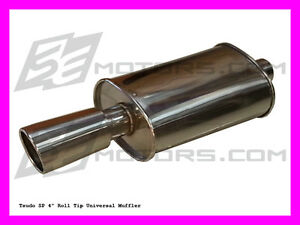 Tsudo Sp1 Universal Muffler Exhaust For Acura Tl Cl Tsx Rsx 98 99 00 01 02 03