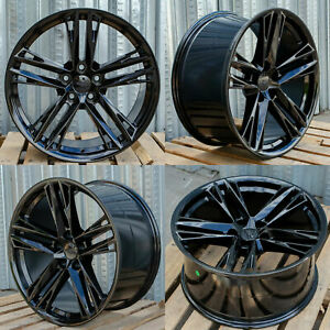 20 Inch Black Wheels 20x10 20x11 Fit Chevrolet Camaro Chevy Concave Set 4 Rims