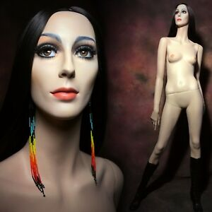 Rootstein Cher Female Mannequin Full Realistic Glass Eyes Vintage 70s Rare