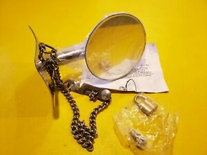 Ford Model A 1928 31 Spare Tire Side Mount Mirror Chrome Chain Stainless Head