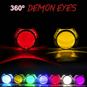 2pcs Led Demon Devil Eyes Halo Rings For Car Headlight 3 0 2 5 Projector Lens