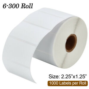 Roll Of 1000 Direct Thermal Shipping Label 2 25x1 25 Sku Barcode Label For Zebra