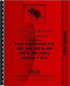 International Farmall 300 350 400 450 Tractor Implements Parts Manual Catalog
