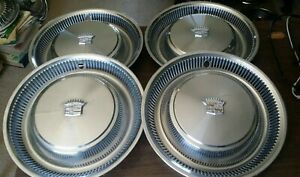 1974 1975 1976 Cadillac Deville Hubcap Wheelcover Set Of 4