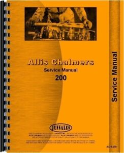 Allis Chalmers 200 Diesel Tractor Service Repair Manual