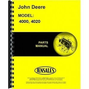 John Deere 4000 4020 Tractor Parts Manual Catalog Pc1116