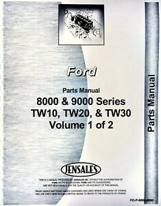 Ford 8200 8400 8600 8700 9000 9200 9600 9700 Tractor Parts Manual Catalog