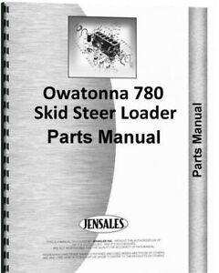 Omc Owatonna 780 Articulated Skid Steer Parts Manual Catalog