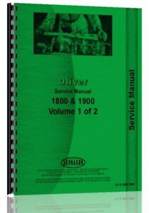 Oliver Cockshutt White 1800 1900 Tractor Service Manual