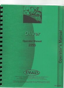 Oliver White 2255 Tractor Operators Owners Manual Diesel