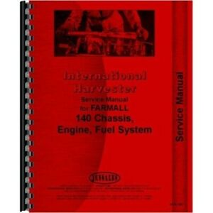 International Farmall 140 Agriculture Tractor Service Shop Repair Manual