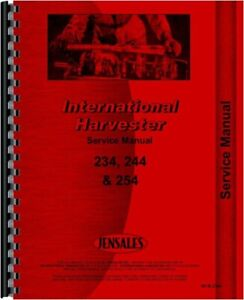 Ih International 244 254 234 Tractor Service Shop Manual Diesel Compact
